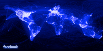Image Showing Facebook Relationships Around The World